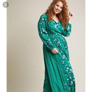 D.1 Modcloth maxi green dress